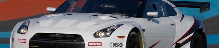 2009 FIA GT1 Gigawave Nismo GT-R はV8 5.6L 後輪駆動!