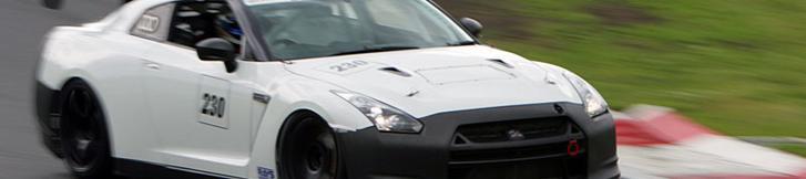 スクープ!R35 GT-R プロダクションレースカーのテストか!?